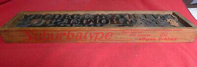 Tray Antique Vtg Wood Letterpress Print Block Alphabet Letters Superba Type
