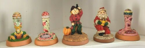 Holiday Cookie Stamp Set Of 5 Santa Easter Bunny Valentine Scarecrow Love Press