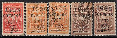 ECUADOR Scott 70-3 & 73d Mint Hinged & Used ## 1 cent start ##