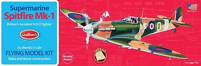 Guillow's Supermarine Spitfire Balsa Wood Model Airplane Kit, WWII  GUI-504