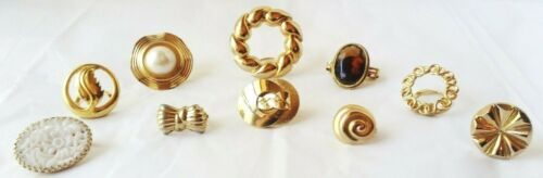 Vintage Lot of 10 Scarf Clips- Gold Tone*