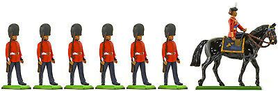 Britains Deetail Scots Guards Marching with The Queen - Painted Toy Soldiers