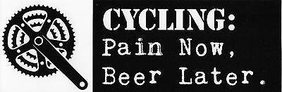 Cycling Beer Vinyl Bumper Sticker Mountain Bike Fat Trek Farley Niner Surly Mtb