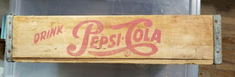 Vintage Wooden Soda Crate Pepsi Cola Wood Box Dividers