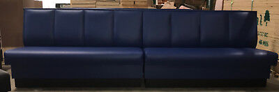 High Quality Restaurant Wall Bench Channel Back 36 High Back In Any Length