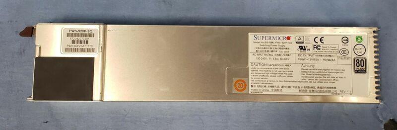 SuperMicro PWS-920P-SQ 920W 80 Plus Platinum Switching Power Supply