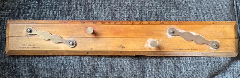 Kelvin Bottomley & Baird Parallel Double Ruler Wooden Brass Capt Fields Improved