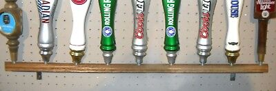 Great Wall Display (SOLID OAK WALL MOUNTED BEER TAP HANDLE DISPLAY HOLDS 9 GREAT FOR)