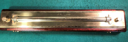 Antique 18 inch Brass Rolling Parallel Rule by Rowney & Co London