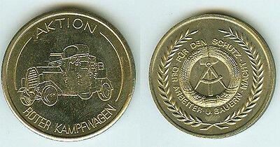 DDR GDR Medaille Aktion Roter Kampfwagen