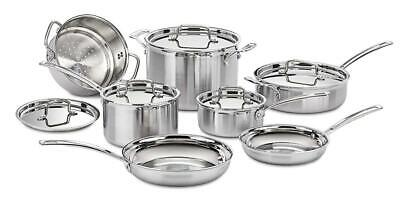 Cuisinart MCP-12N Multiclad Pro Stainless Steel 12-Piece Cookware Set (Cuisinart Multiclad Pro Stainless Cookware)