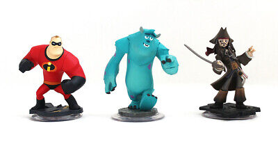Disney Infinity Characters Jack Sparrow Mr Incredible Monster Inc Sully Xbox 360