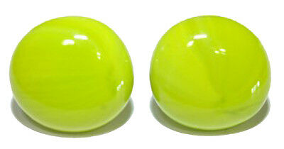 BRIGHT LIME GREEN GLASS GEM STUD or CLIP ON EARRINGS (S097)