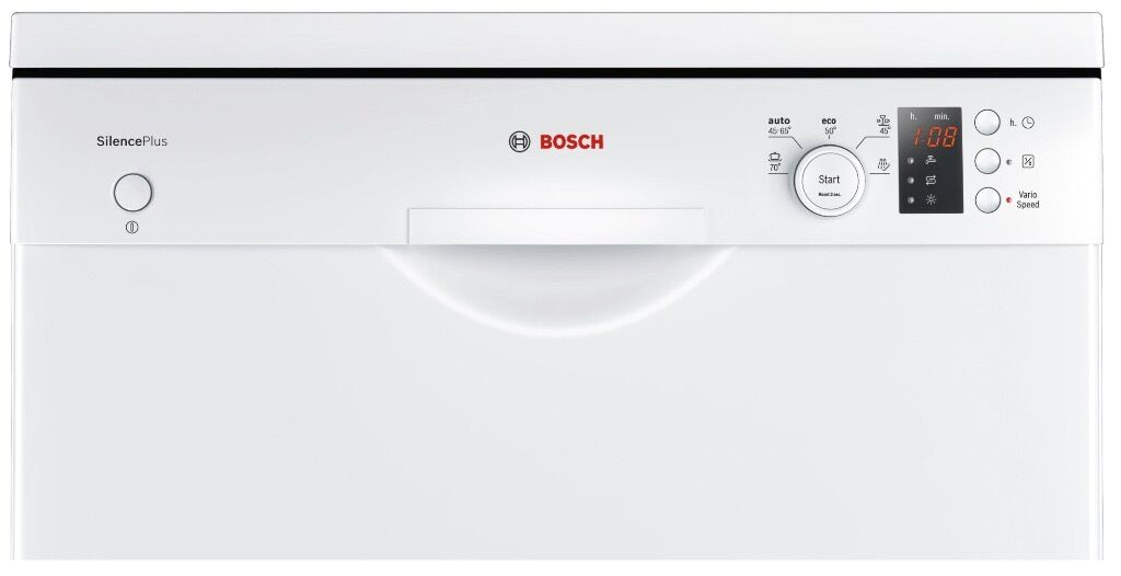 bosch super silent a freestanding dishwasher in. Black Bedroom Furniture Sets. Home Design Ideas