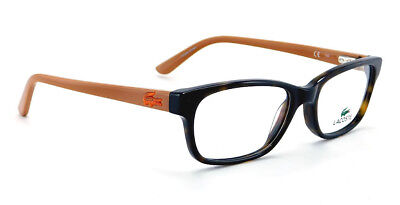 New Lacoste Rx Eyeglasses | L3606 214 - Havana / Clear Demo Lens