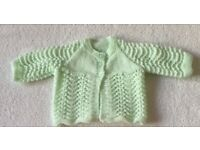 Baby Girl Hand Knitted Cardigan 0 - 3 Months