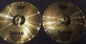 "Sabian cymbales SBR Hi hat 14"" usagé/used"