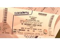 Sparks Concert Ticket, Shepherds Bush Empire