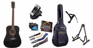 Left handed acoustic guitar black 41 inch iMusic578L with Full Package