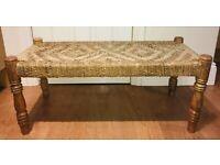 Vintage wooden rope bench