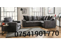 Charcoal Grey Veronica brand new corner sofa**Free delivery**