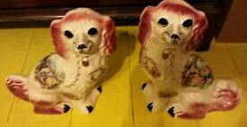 Porcelain dogs - pair in good nick