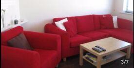 3 Seater Sofa & Arm Chair £250