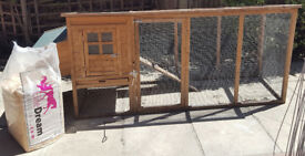 Chicken/animal run with bedding shed