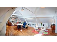 Affordable desks at lovely shared workspace near Stepney Green