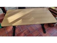 Ikea Bekant office desk, oak veneer/black 160x80 cm, adjustable legs,