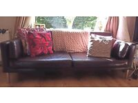 Stylish but comfy couch - chocolate