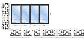 New, Quality Aluminuim Bi fold Patio Doors inc Glass 4 panels. 2100mm x 4000mm £1990