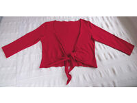 M&S Per Una size 12 red shrug. Great festive colour - ideal for Xmas and parties! £3 ovno.
