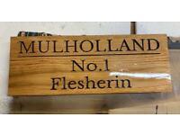 Personalised Oak signs