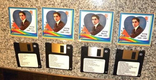 PianoDisk Yamaha XG Disklavier 4 Floppy Disk Set 48 Irving Berlin Piano Songs