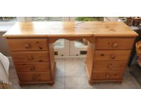 Pine Dressing Table - waterstained top - free to collector