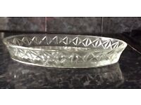 Crystal Glass serving dish
