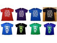 New T-Shirt Men Black Red Blue Shirt Size S M L XLFitted Premium Quality Fashion