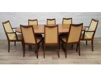G plan Extending Dining Table With 8 Chairs (DELIVERY AVAILABLE)