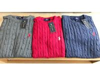 MASSIVE STOCK CLEARANCE!! MENS RAHLP LAUREN SWEATERS.. WHOLESALE EACH 9£ ONLY