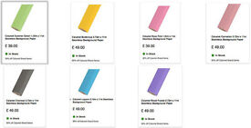 7 Different Color Backdrop Background Paper