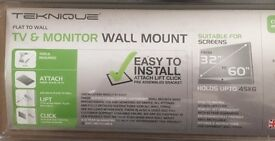 """FLAT TO WALL TV wall mount 32-60"""" NEW"""