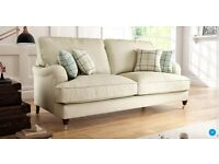Sofology 4 Seater Bella Sofa - Arran/Beige - Cushions Included - Free Delivery