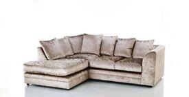 Stunning Mink Crushed velvet sofa
