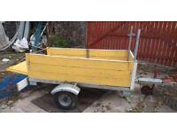 box trailer 6+3 new tyres galvanised frame stainless steel base