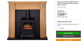 Adams Electric Stove with surround