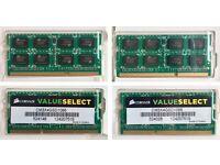 16Gb (4x4GB) DDR3 1066ghz 204-pin PC3-8500 Laptop / Mac RAM memory