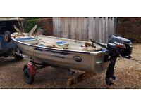 Aluminium Boat, Outboard and Trailers : Linder 410, 4HP 4 Stroke Suzuki