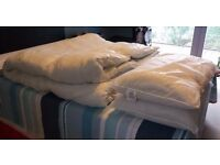 Double duvet 13.5 ToG and pillows