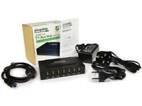 Plugable 7-Port USB 3.0 SuperSpeed Charging Hub with 60W Power Adapter